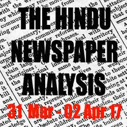 hindu newspaper analysis march 31 to april 01 2017