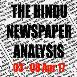 hindu analysis april 2017